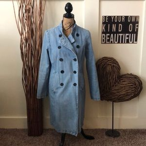 Tommy Hilfiger double breasted denim trench coat
